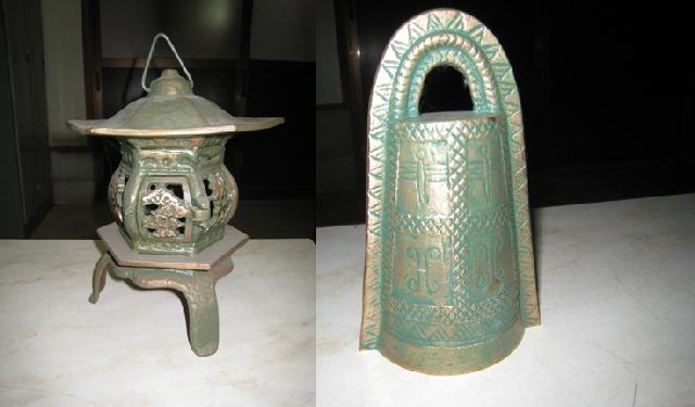 青銅製灯籠・銅鐸