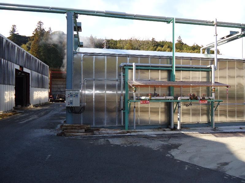 コンクリート二次製品用の養生室